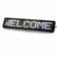 12V Car Scrolling LED Sign IR Remoted Programmable Text Display Board (White)