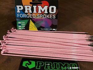 PRIMO FORGED PINK BMX BIKE 184mm SPOKES 14G 40ct Fit 48 36 spoke wheels Hutch CW
