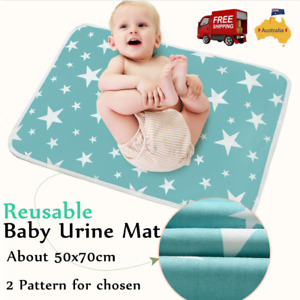 Baby Bedding Cover Diaper Changing Pad Nappy Mat Waterproof Pure Cotton 50*70CM