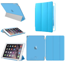 For Apple iPad 4 3 2 mini Air 2 Pro Case Cover Stand Leather Magnetic Sky Blue