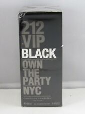 212 VIP Black 3.4 oz. (100 ml) Eau de Parfum for Men 100% Authentic Sealed Box