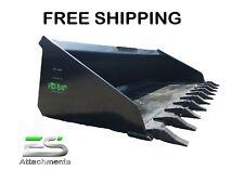 Es Hd 84 Heavy Duty Tooth Bucket Skid Steer Bobcat Free Shipping
