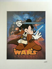 Disney - Mickey Mouse - Star Wars - Jedi - Hand Drawn & Hand Painted Cel