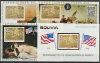Bolivia De 1976 Perfecto Estado Bloque 66,67, 68,69 Ee.uu.