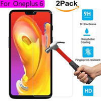 Full Coverage 9H Real Tempered Glass Screen Protector Film Cover For OnePlus 6