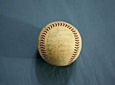 1966 Cincinnati Reds team autographed baseball 35 signatures