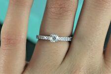 $4,050 Tiffany & Co Novo 0.53ct Cushion Diamond Platinum Engagement Ring Size 6