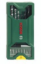 Bosch Mini-X-line mixed set brocas de cincel madera perforador bit frase taladro 2607019579