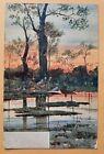 Postcard 1905 Landscape.River Scene, Sunset. 10532 Wrench Series.Artist Signed.