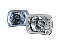 86-95 JEEP WRANGLER YJ  CHROME GLASS HEAD LIGHTS LED HEADLIGHTS H4