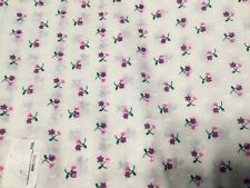 Cotton Fabric Quilt Sew Material Sew Crafts Printed Purple & Pink Roses BTY