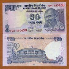 India, 50 Rupees, 2017, P-104x, Letter L, UNC > Gandhi