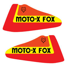 1979-1980 THICK SERIES SUZUKI RM 125 250 400 MOTO X FOX GAS TANK DECAL SET