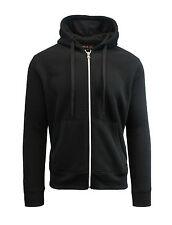 Mens Fleece Hoodie Jacket Sweater For Layering Warm Lounge Full Zip Up - S-XXL