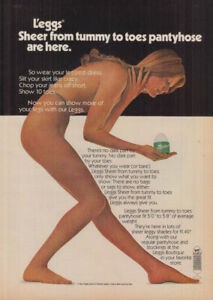 Sheer from tummy to toes L'eggs Pantyhose ad 1973 GH