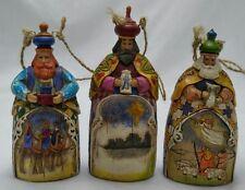 Enesco Jim Shore 3 Wisemen Hanging Christmas Ornament Set Heartwood Creek