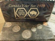 1970 Manitoba Centennial Uncirculated Coin Set in plastic holder