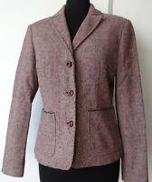 Blazer donna rosa melanzana giacca taglia S M 40 42 Benetton woman jacket pink