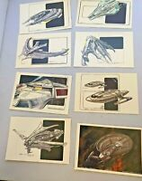 Star Trek Insurrection Fan Club Exclusive Lot of 8 Postcards Unused Ships Eaves