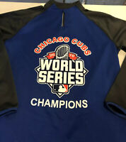 Chicago Cubs 2016 World Series Champions Augusta Sportswear Zip Pullover Size M