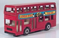 """Matchbox Leyland Titan Double Decker London-Wide Tour Bus 3"""" 1:124 Scale Model"""
