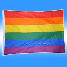 Lesbian Gay MANCHESTER Pride Flag 90cm x 60cm Rainbow party Wall Hanger 3x2