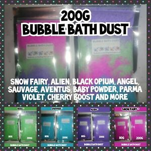 😍 Large 200g Bubble Bath Dust ❤️  Designer Dupes More Bubbles than Bath Bombs
