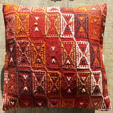 (40*40cm, 16inch) Boho style vintage kilim cushion cover warm tones embrodered