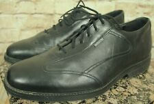 MEPHISTO AIR-JET XL EXTRALIGHT BLACK LEATHER OXFORD DRESS SHOES SIZE 11.5US EUC!