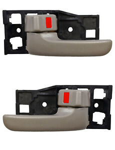 Front Inside Door Handle Set Charcoal Gray for 00-06 Tundra Regular / Access Cab
