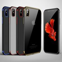 Electroplate TPU Case for iPhone 8 7Plus XR ShockProof Soft Phone Cover Silicone