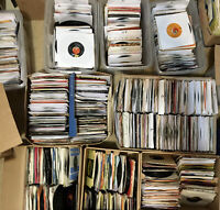 "Lot of 40 45 rpm 50's-80's 7"" Vinyl Records Jukebox Rock Pop Country Soul VG"