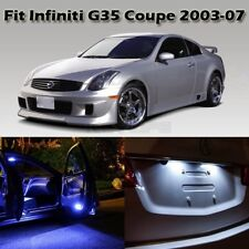 7 Blue Interior LED Light Bulb Package For Infiniti G35 Coupe Door Courtesy Map