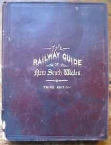 Antiquarian THE RAILWAY GUIDE OF NEW SOUTH WALES.1886,Steam Locomotive,6 maps