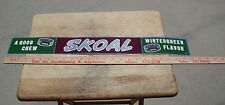 """VINTAGE '60-'70S SKOAL THIN METAL STRIP SIGN 24""""LONG BY 3""""TALL"""