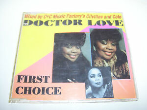 FIRST CHOICE feat. ROCHELLE FLEMMING - DOCTOR LOVE * RARE 3 track CD MAXI 1993 *