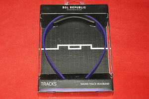 Sol Republic 1305-35 Purple Sound Tracks Headband Brand New Sealed