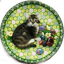 Lesley Anne Ivory MEET MY KITTENS April Calender Cat Plate