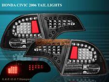 2006-2011 HONDA CIVIC 4D SEDAN LED TAIL LIGHTS BLACK 4DR REAR BRAKE LAMPS