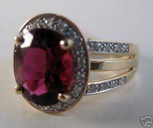 14KY 2.6 Carat Rubellite Tourmaline & Diamond Ring