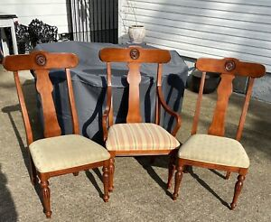 Ethan Allen British Classics Dining Chairs Maple #29-6400 #260 Cinnabar SET OF 8