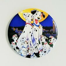 "RARE Vtg Disney 101 Dalmatians Button Jumbo 6"" Pongo Perdita Lucky And Puppies"