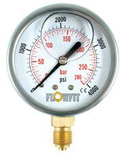 "63mm Glycerine Filled Hyd Pressure Gauge 0-14500 PSI (1000 BAR) 1/4"" BSP BASE En"
