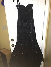 Sherri Hill Prom Dress Sequince Sequin Black size 8
