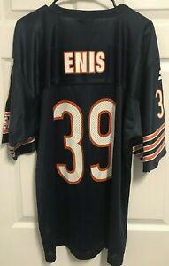 CURTIS ENIS 39 Chicago Bears Men Vintage Navy Nylon Football Jersey 48 Starter
