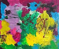 "Abstract Painting on canvas ""ABSTRACT COMPOSITION"""