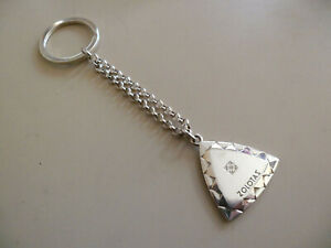 ZOLOTAS GREEK STERLING SILVER 925 KEY RING WITH CHAIN RARE GREAT HARD TO FIND