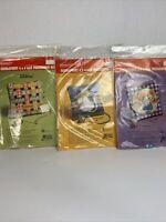 "Vintage Wonder Art Needlepoint 4"" x 4"" Pincushion Kit - Ribbons Kitty Flower LOT"