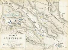 BATAILLE de NEERWINDEN français Guerres révolutionnaires Johnston militaire Carte 1848 Imprimer