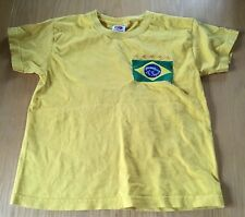 Ragazzi Giallo Neymar Brasile T-shirt Taglia 5-6 anni